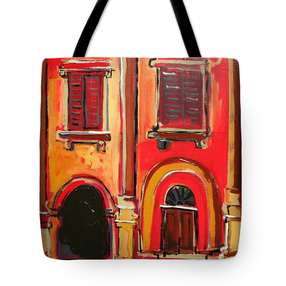 Tuscany Tote Bag featuring the painting Arco Di Firenze by Kurt Hausmann