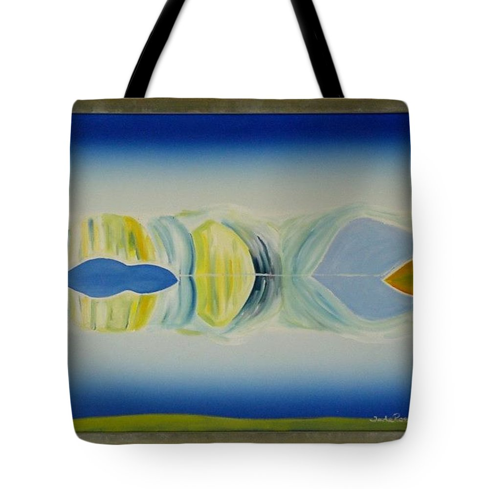 Landscape Tote Bag featuring the painting Arctic Landscape by Jarle Rosseland