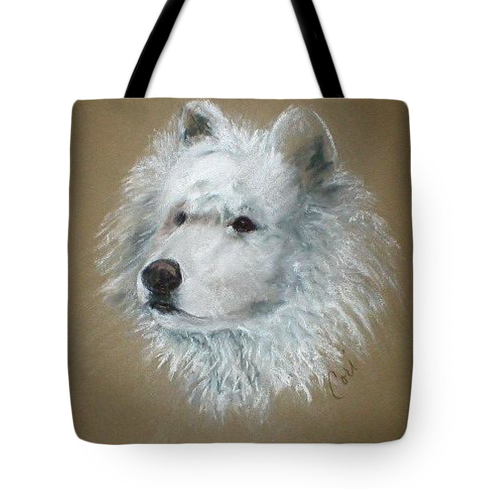 Pastel Tote Bag featuring the drawing Arctic Majestry by Cori Solomon