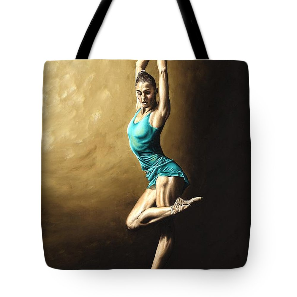 Dance Tote Bag featuring the painting Ardent Dancer by Richard Young
