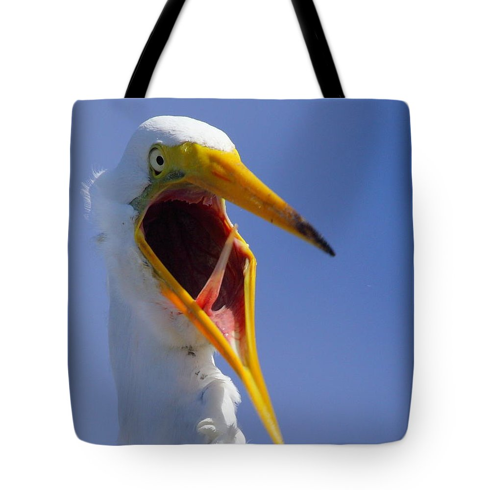 Great Egret Tote Bag featuring the photograph Are You Serious by Andrew McInnes