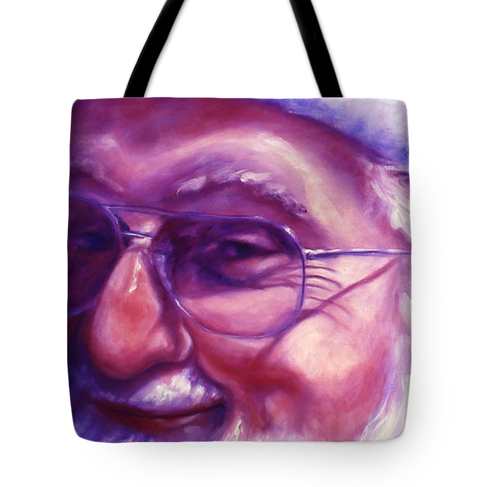 Portrait Tote Bag featuring the painting Are You Sure You Have Been Nice by Shannon Grissom