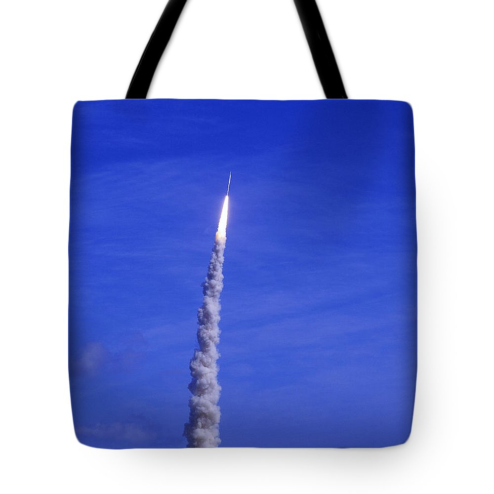 Rocket Tote Bag featuring the photograph Ares-1 Rocket Launch by Allan Hughes
