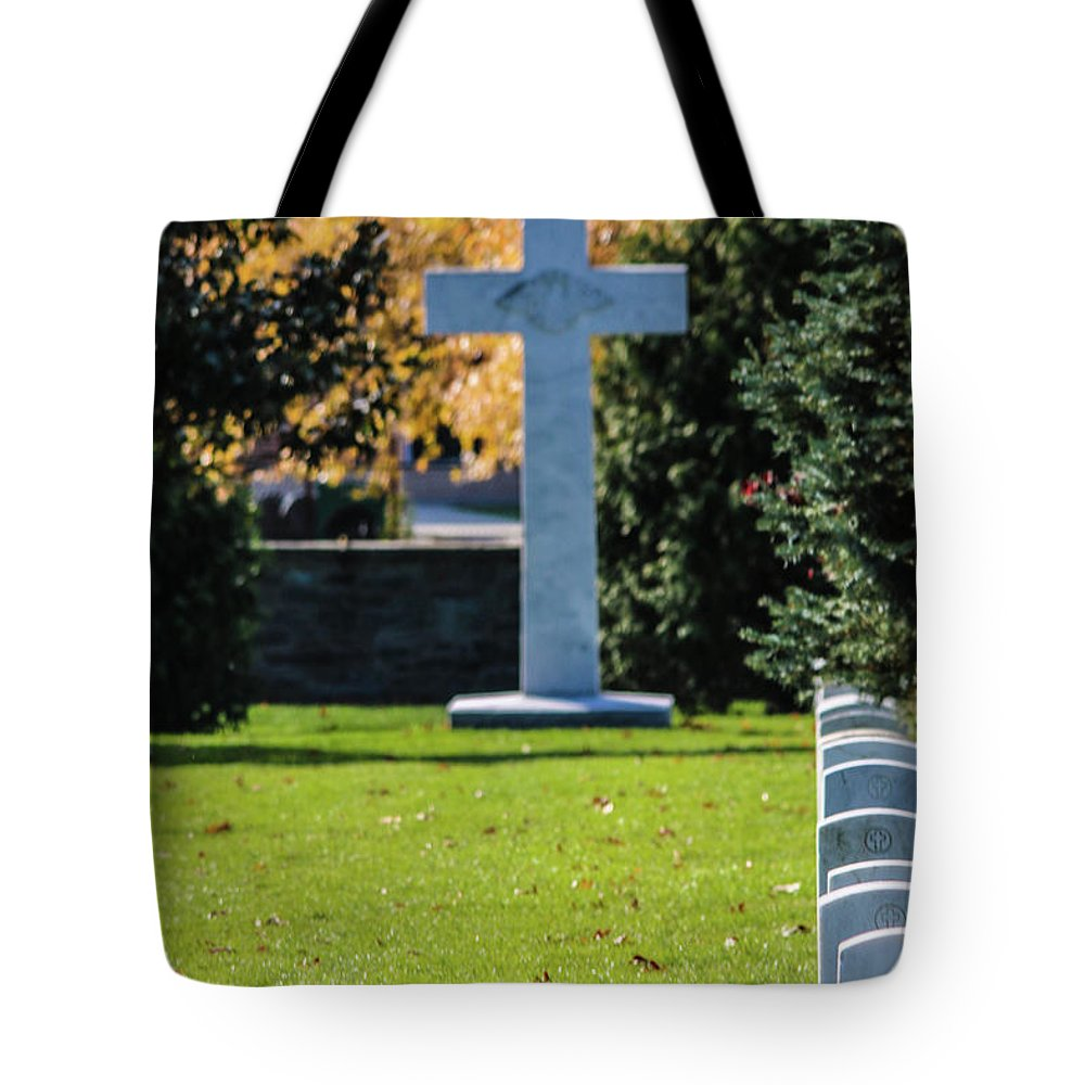 The Argonne Cross Memorial Is A Memorial To American Military Personnel Who Died Fighting In France During World War I. It Was Erected On November 13 Tote Bag featuring the photograph Argonne Cross Memorial by William Rogers