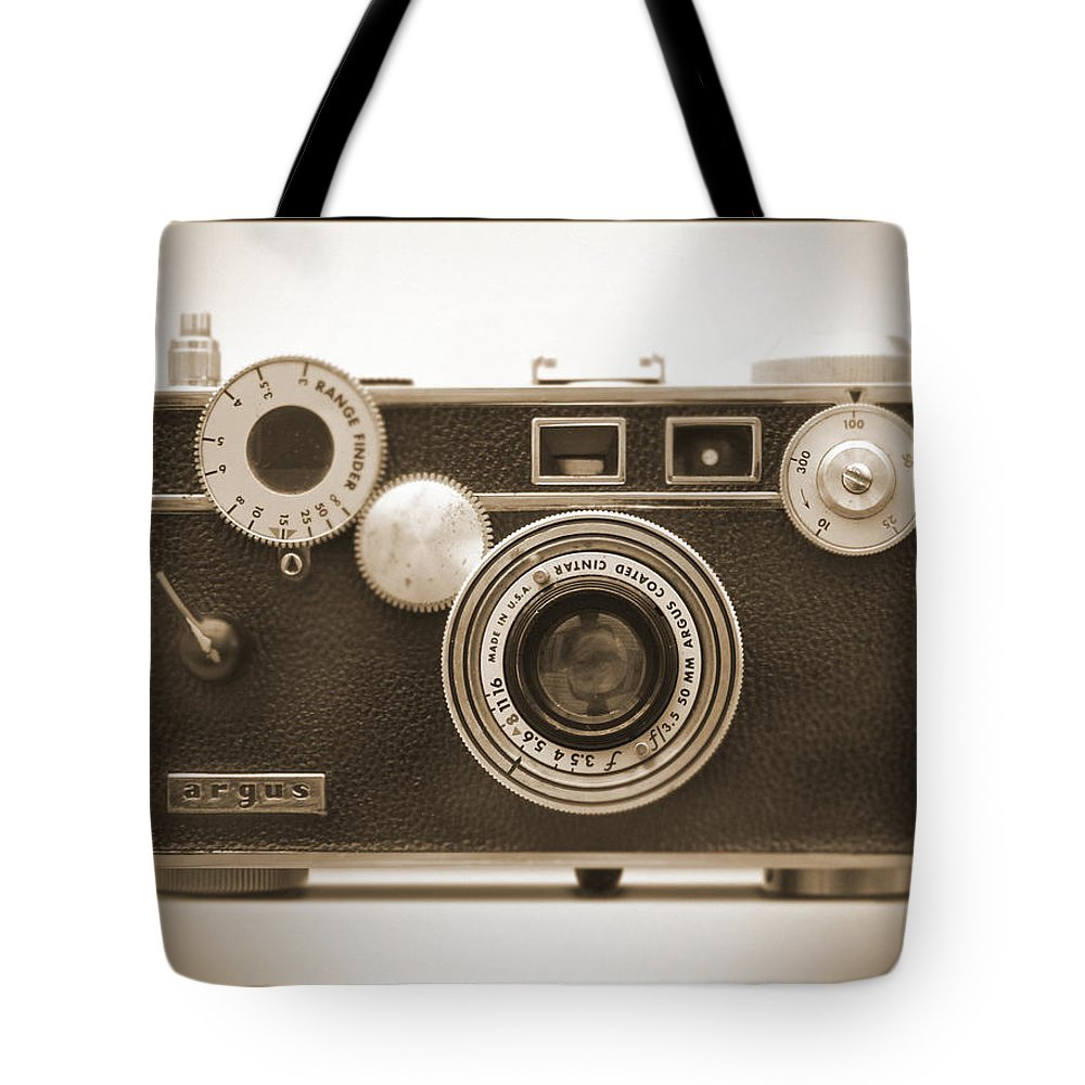 Vintage 35mm Tote Bag featuring the photograph Argus - Brick by Mike McGlothlen