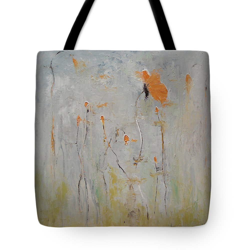 Floral Tote Bag featuring the painting Aria by Barbara Andolsek