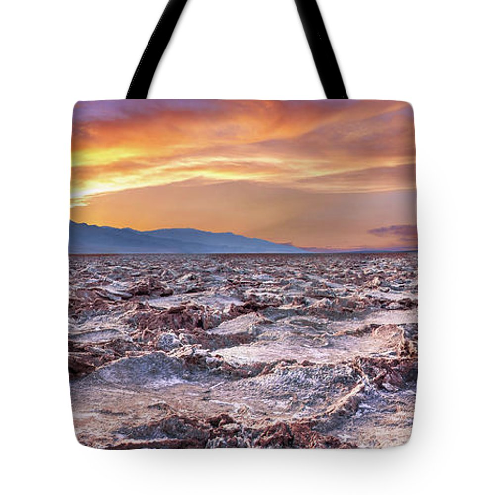 Death Valley Tote Bag featuring the photograph Arid Delight by Az Jackson
