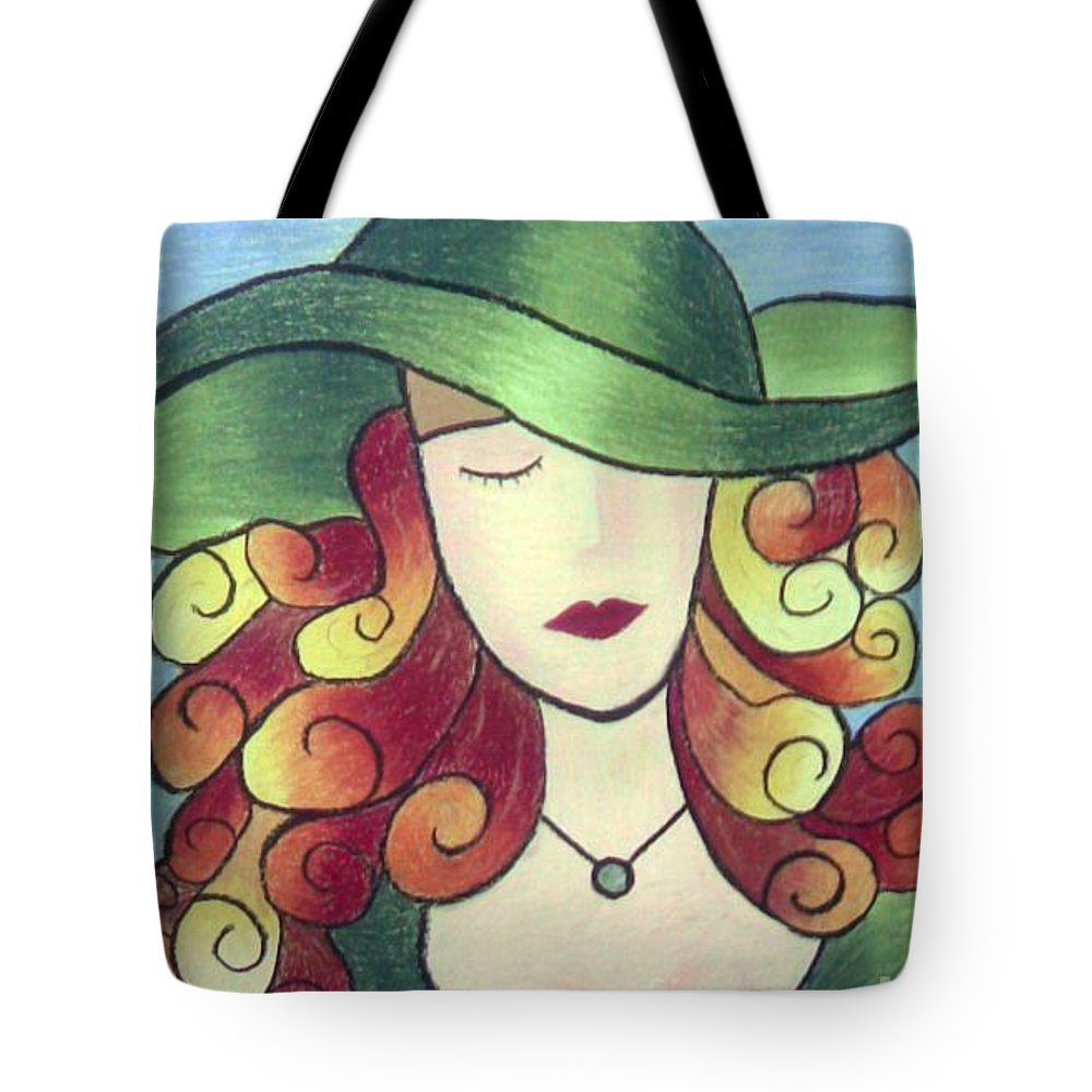 Portrait Tote Bag featuring the painting Aristocratic Lady by Eman Allam
