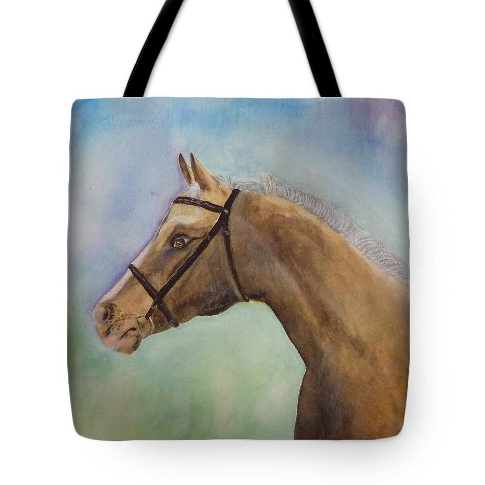 Horse Tote Bag featuring the painting Arizona by Beverly Johnson