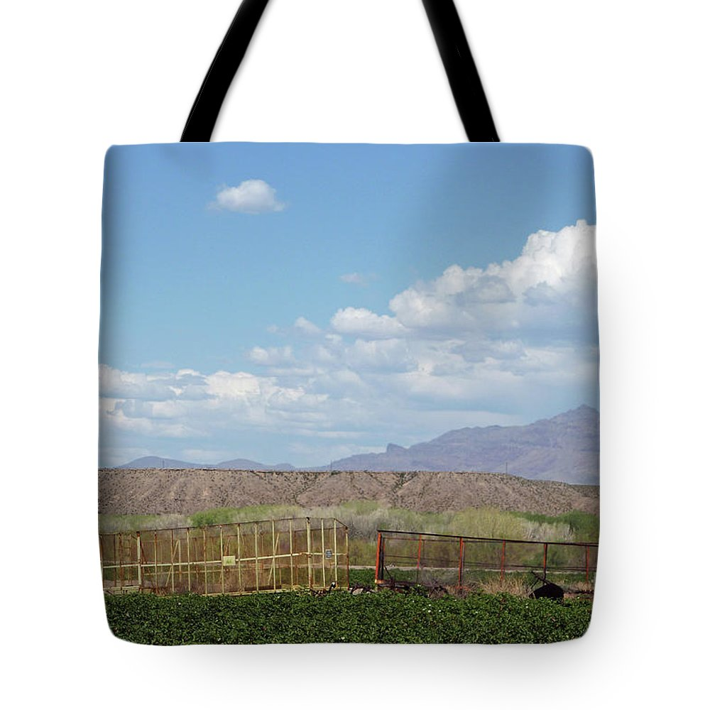 Arizona Farming Tote Bag featuring the photograph Arizona Farming by Methune Hively