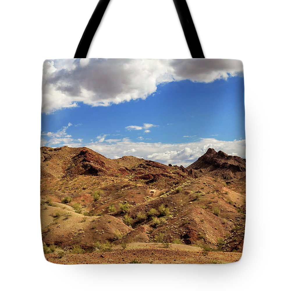 Landscape Tote Bag featuring the photograph Arizona Hills by James Eddy