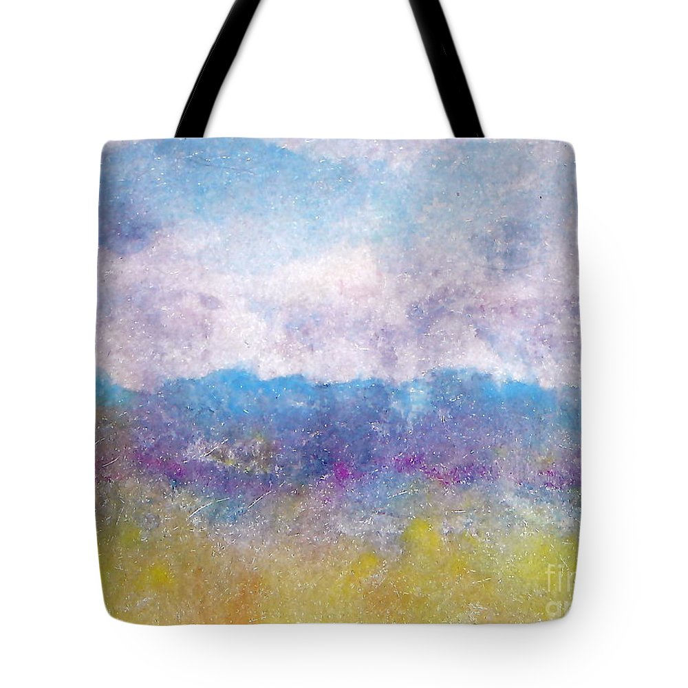 Abstract Tote Bag featuring the painting Arizona Impressions by Jan Bennicoff