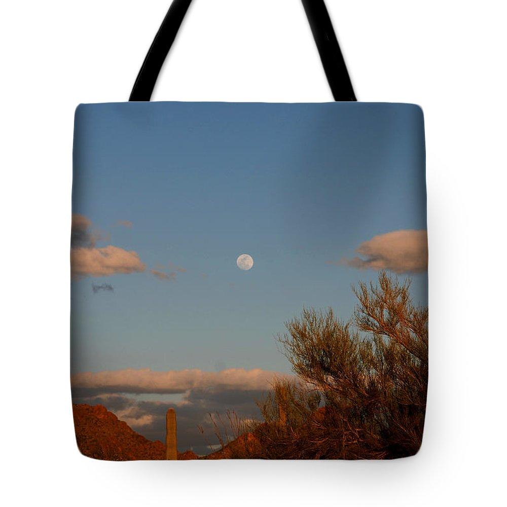 Arizona Tote Bag featuring the photograph Arizona Moon II by Susanne Van Hulst