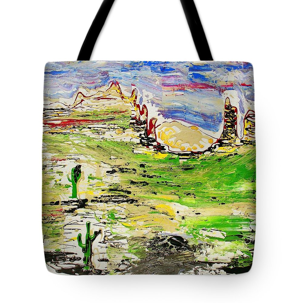 Impressionist Painting Tote Bag featuring the painting Arizona Skies by J R Seymour