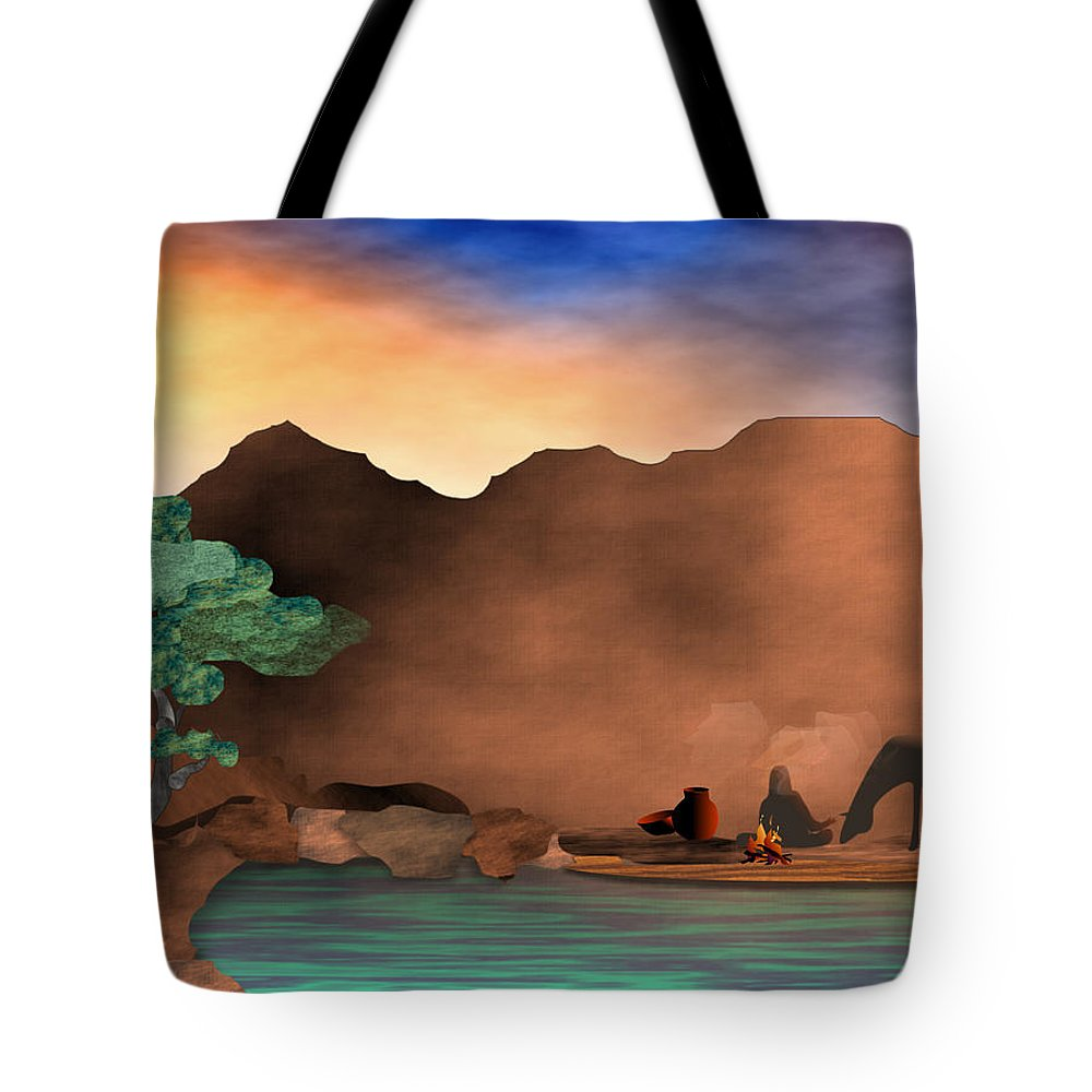 Arizona Tote Bag featuring the digital art Arizona Sky by Arline Wagner