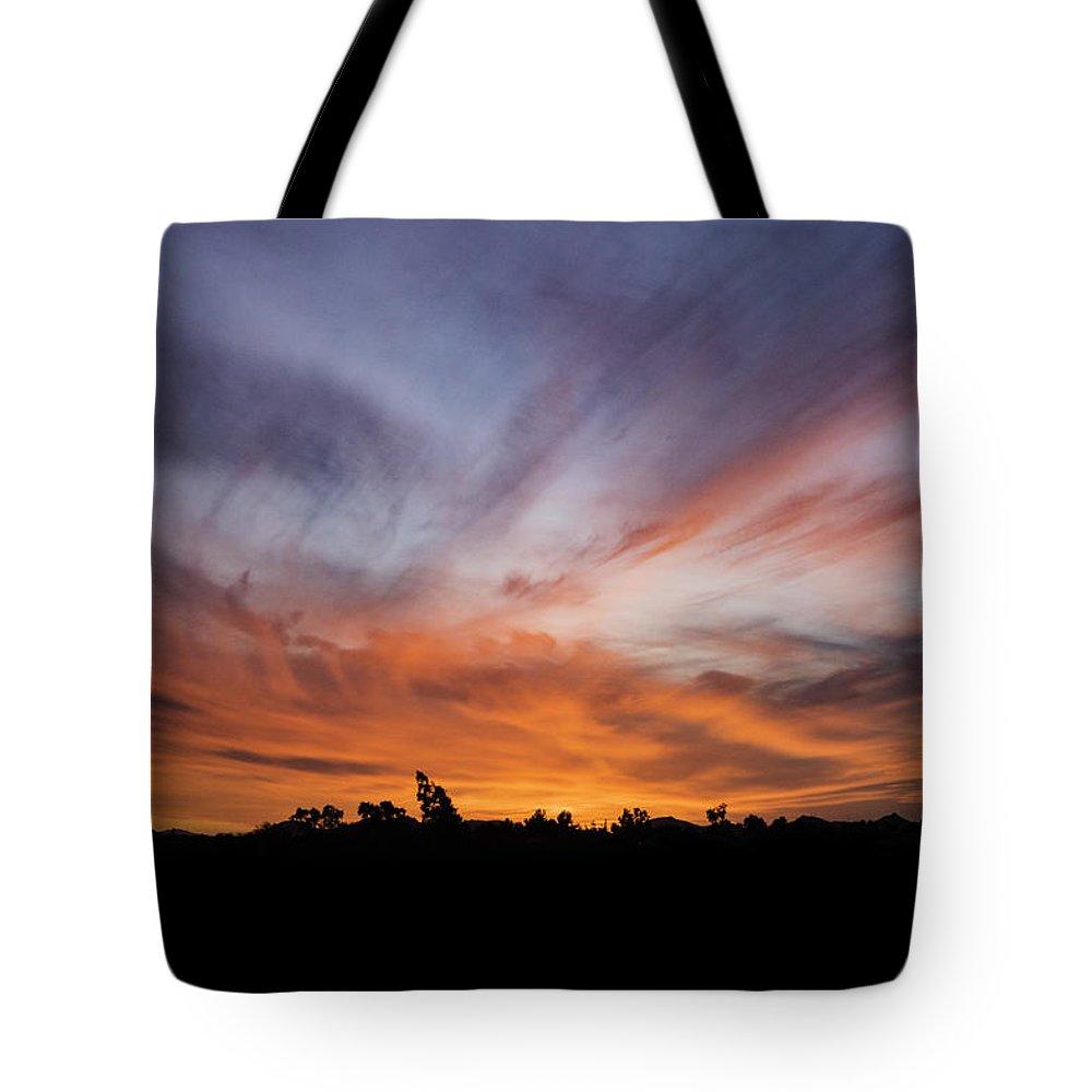 Arizona Tote Bag featuring the photograph Arizona Sunset by Jan Hagan