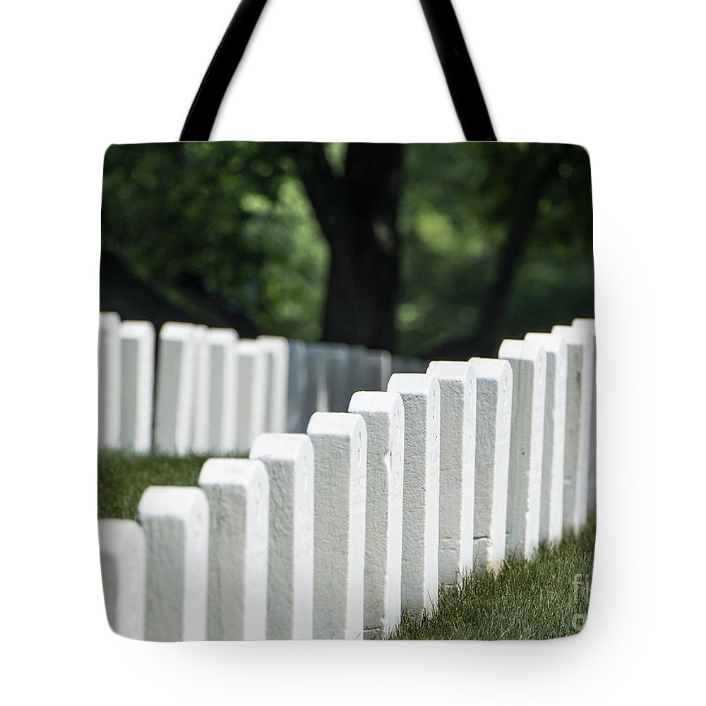 America Tote Bag featuring the photograph Arlington Cemetery by John Greim