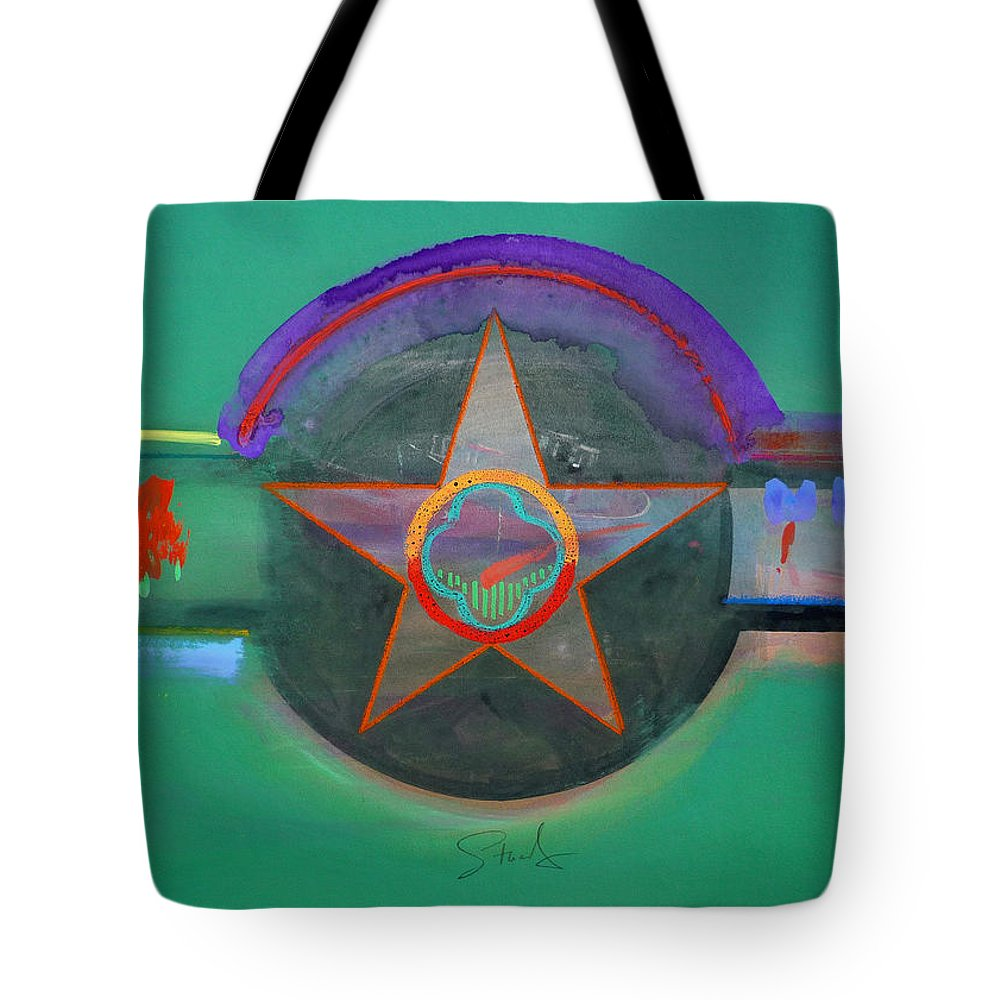 Star Tote Bag featuring the painting Arlington Green by Charles Stuart