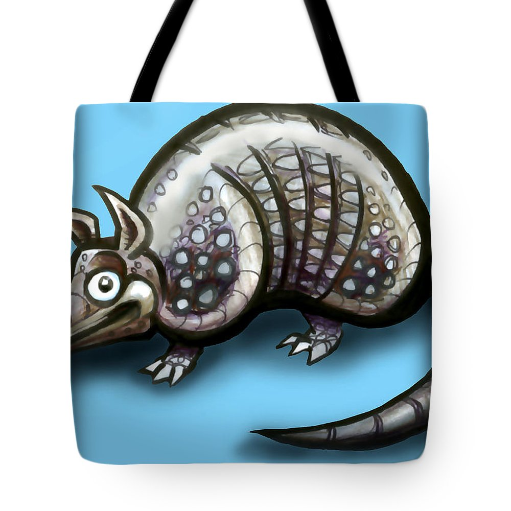 Armadillo Tote Bag featuring the greeting card Armadillo by Kevin Middleton