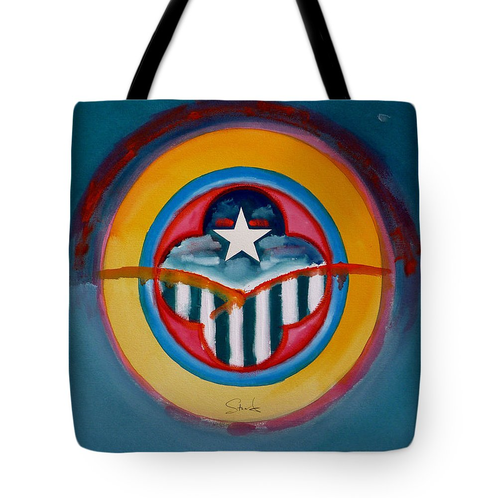Button Tote Bag featuring the painting Army by Charles Stuart