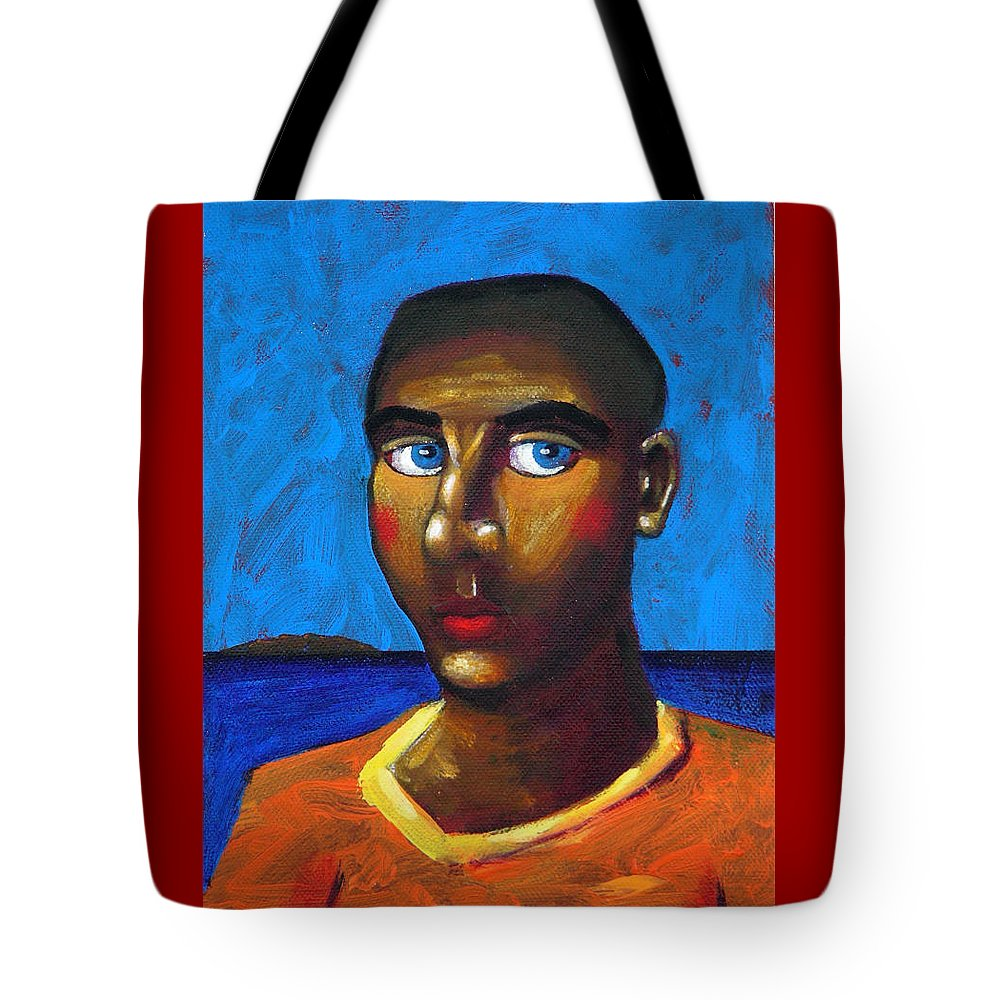 Arsonist Tote Bag featuring the painting Arsonist by Dimitris Milionis