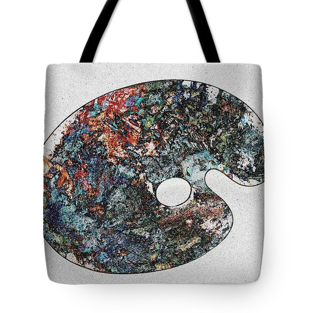 Palette Tote Bag featuring the photograph Art Attack by Tim Allen