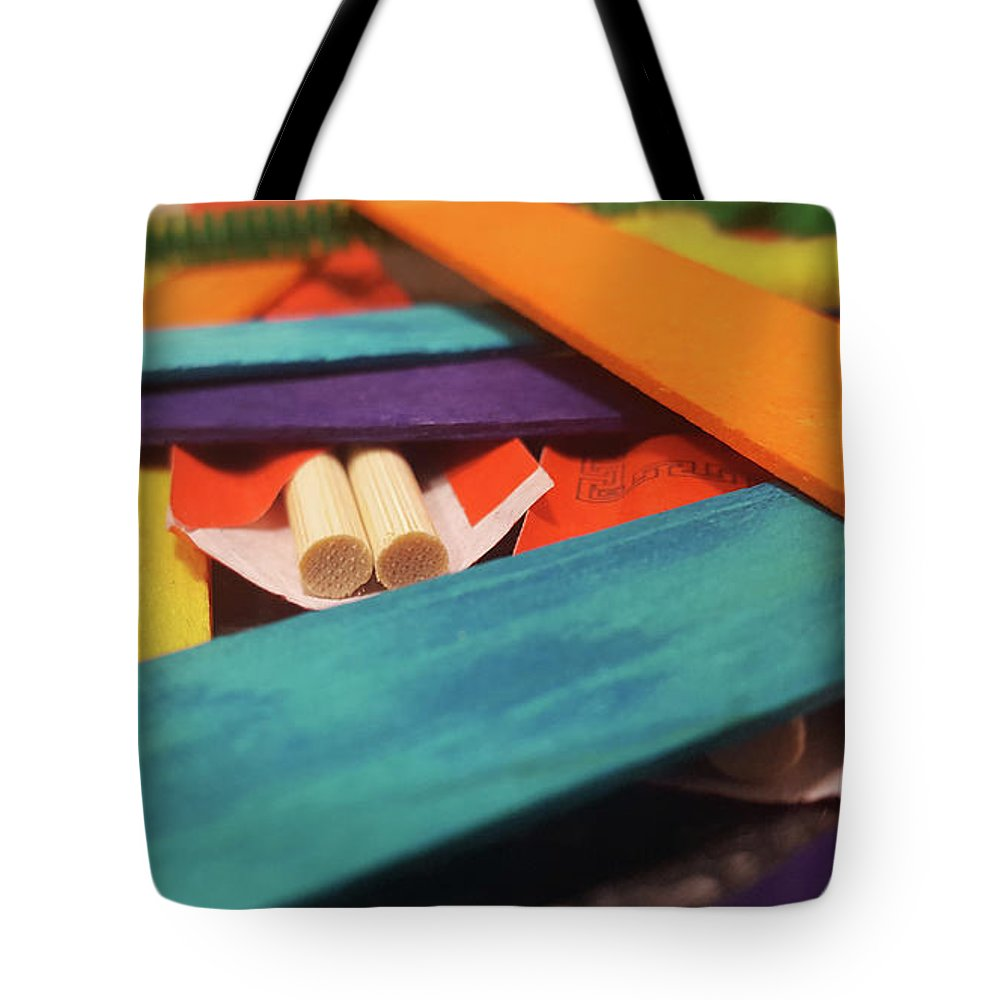 Abstract Tote Bag featuring the photograph Art Class by Cheryle Gannaway