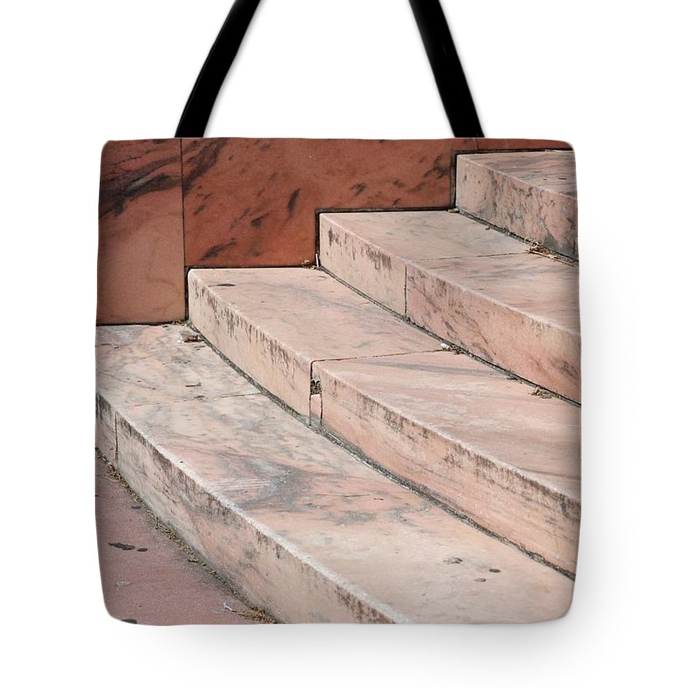Architecture Tote Bag featuring the photograph Art Deco Steps by Rob Hans