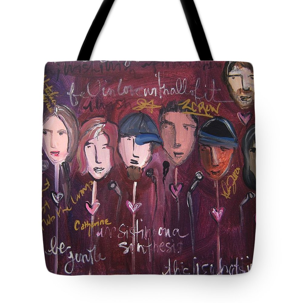Laurie Maves Art Tote Bag featuring the painting Art From Ashes 2010 by Laurie Maves ART