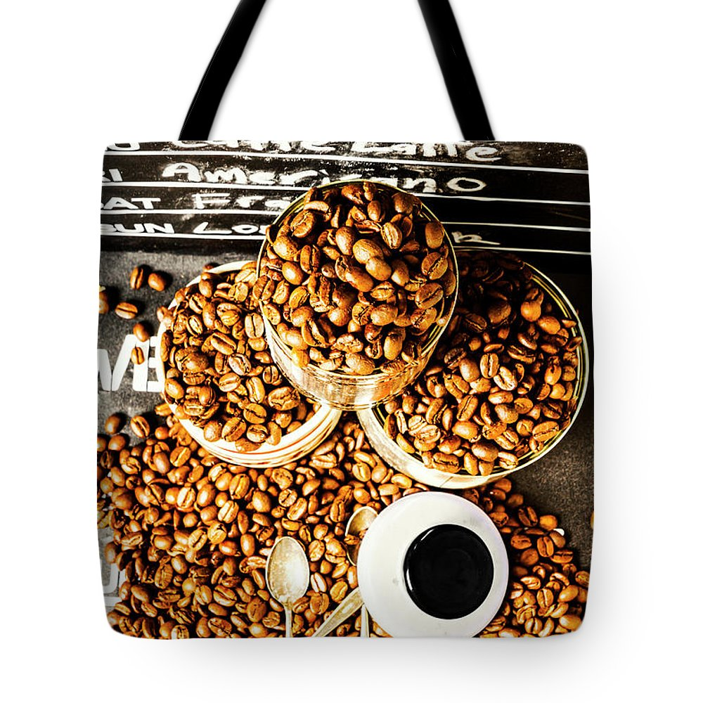 Coffee Tote Bag featuring the photograph Art In Commercial Coffee by Jorgo Photography - Wall Art Gallery