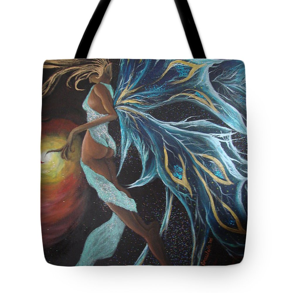Figure Tote Bag featuring the painting Art Is Magic by Glory Fraulein Wolfe