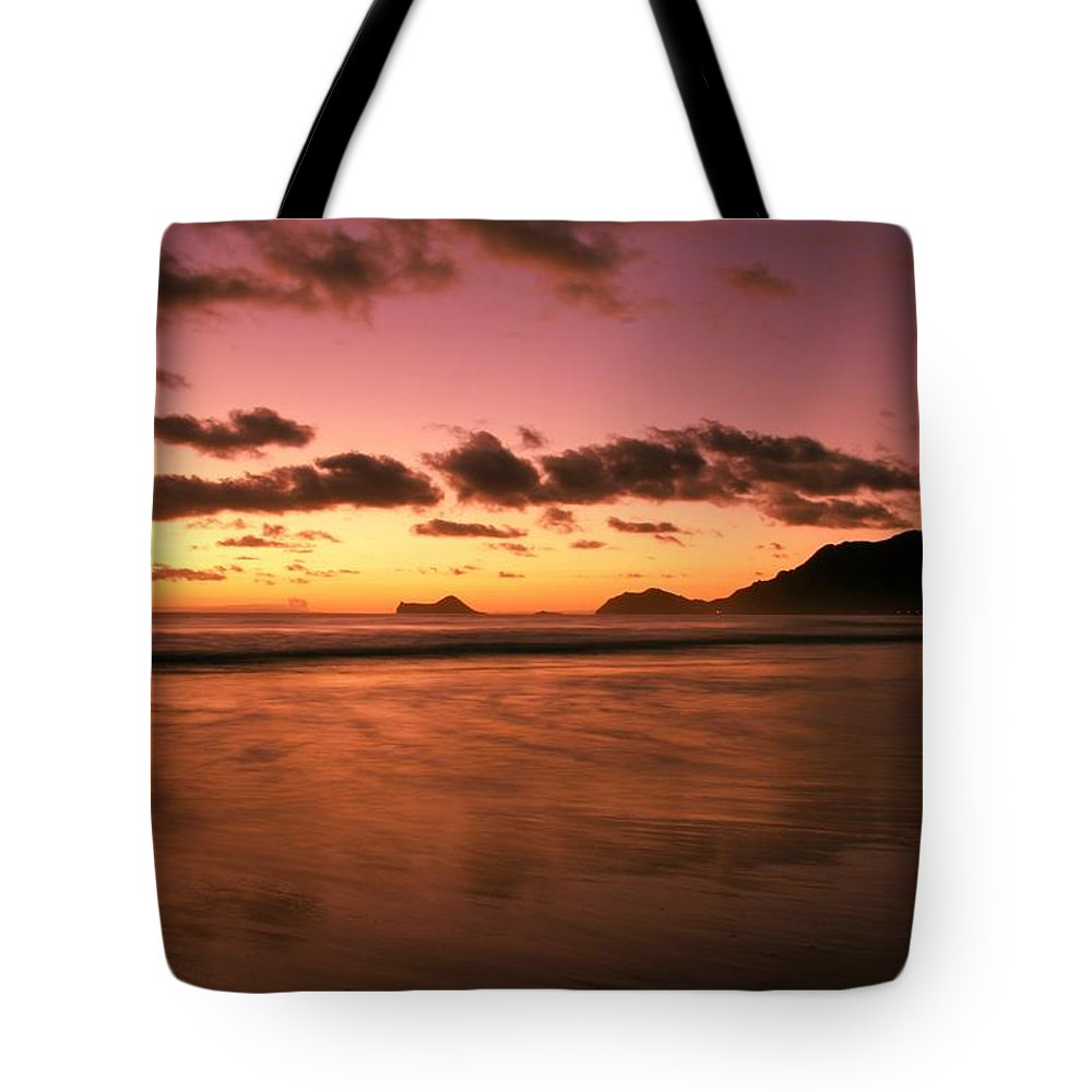 Dawn Tote Bag featuring the photograph Art Of Balance by Mitch Cat
