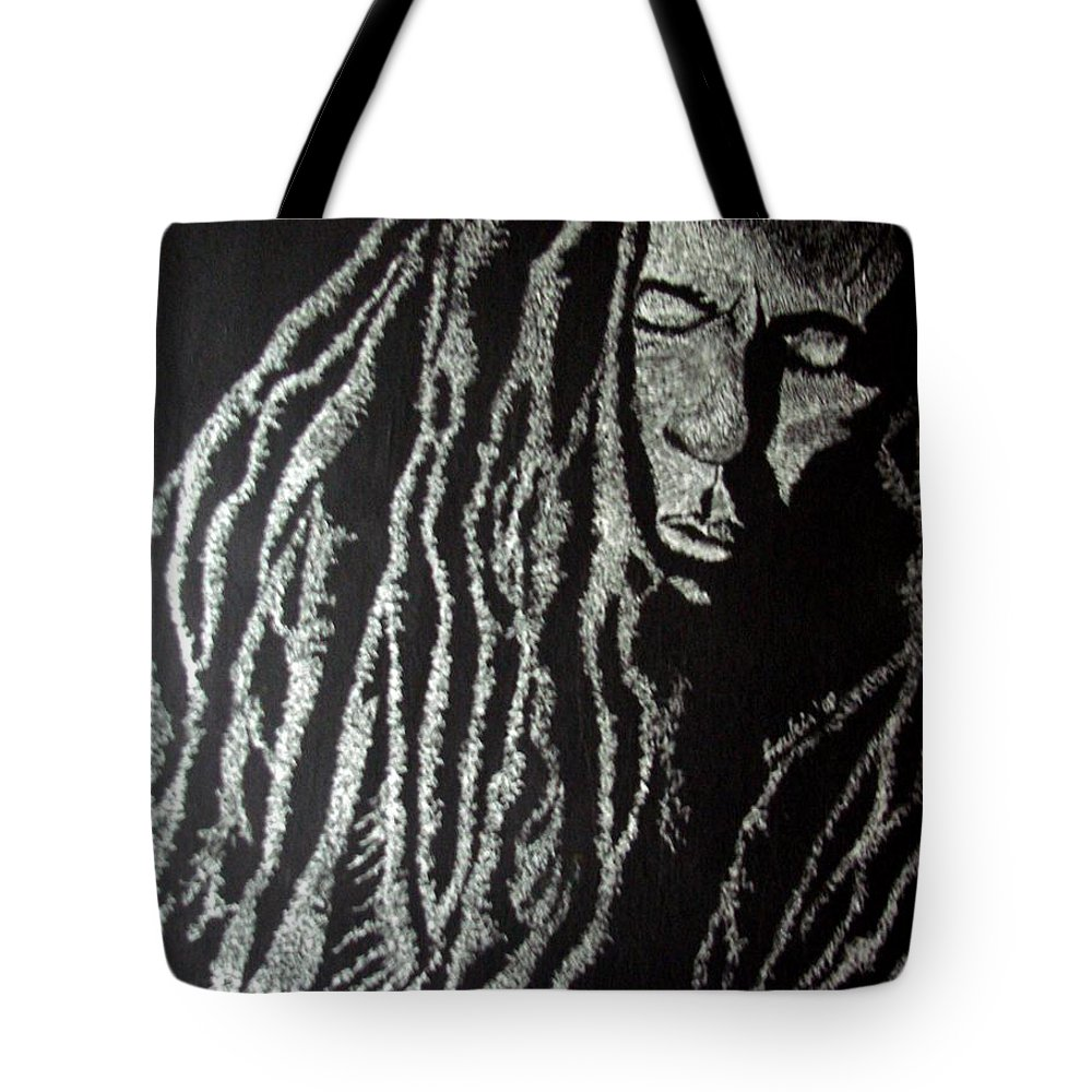 Portrait Tote Bag featuring the painting Art Of Freedom by Glory Fraulein Wolfe