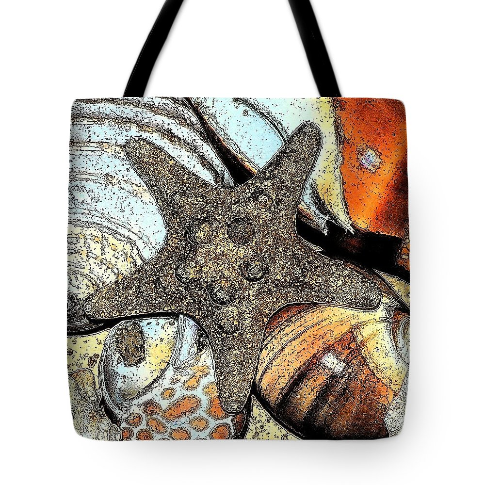 Seashell Tote Bag featuring the photograph Art Shell 1 by Stephanie Troxell