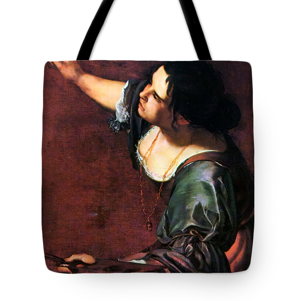 Artemisia Tote Bag featuring the photograph Artemisia Gentileschi by Granger