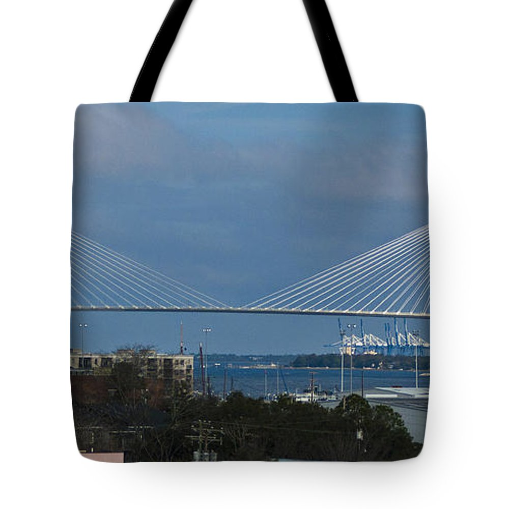Charleston Tote Bag featuring the photograph Arthur Ravenel Jr. Bridge by Bill Barber