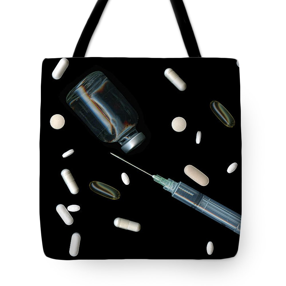 Drugs Tote Bag featuring the photograph Artificial Life by Tom Mc Nemar