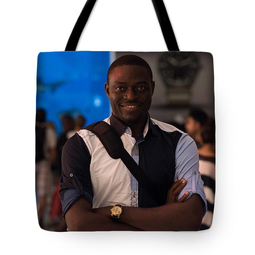 Portrait Tote Bag featuring the photograph Artist Self Portrait by Emmanuel Sanni