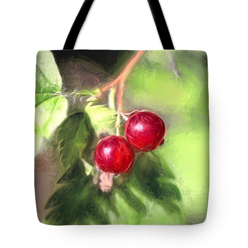 Artistic Tote Bag featuring the photograph Artistic Panterly Two Wild Goosberries by Leif Sohlman