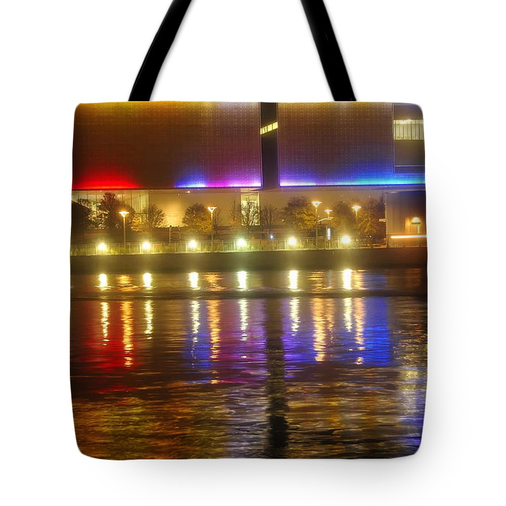 Tampa Bay Art Center Tote Bag featuring the photograph Artistic Reflections by David Lee Thompson