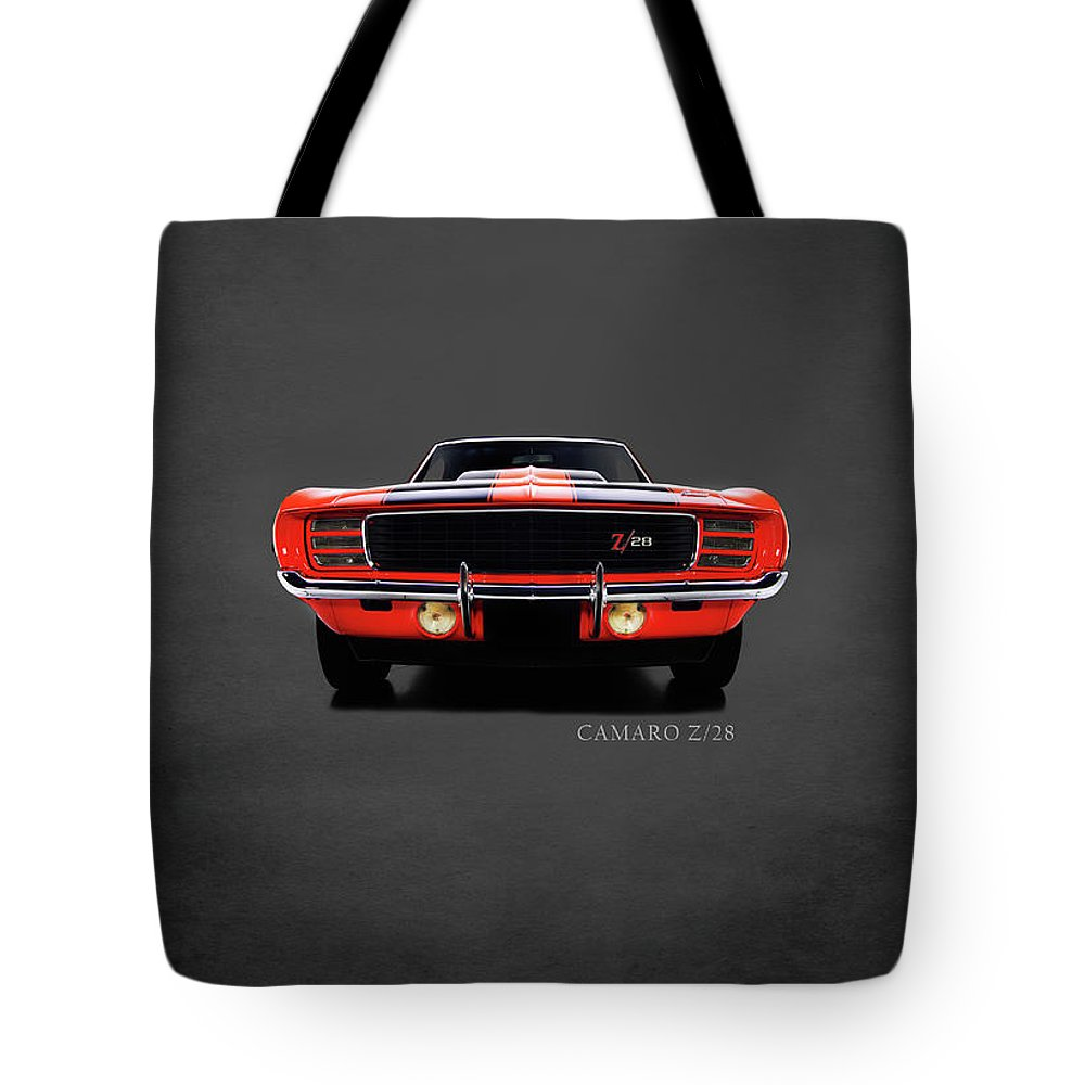 Chevrolet Camaro Z 28 Tote Bag featuring the photograph Chevrolet Camaro Z 28 by Mark Rogan