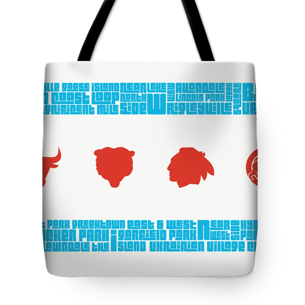 City Mixed Media Tote Bags