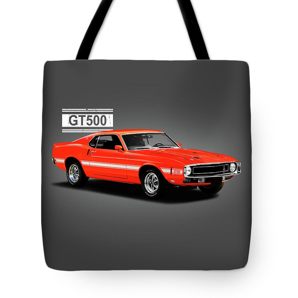 Ford Mustang Shelby Gt500 1969 Tote Bag For Sale By Mark Rogan Featuring The Photograph