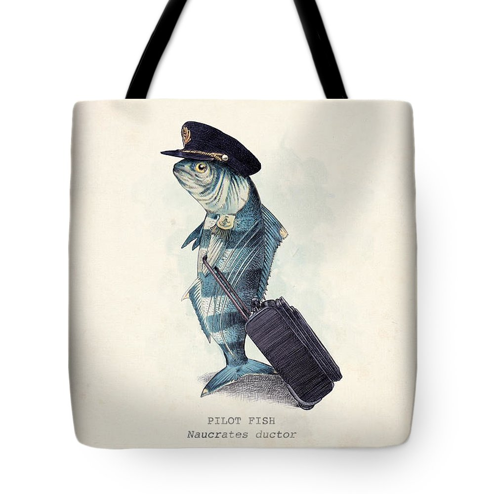 Pilot Tote Bag featuring the digital art The Pilot by Eric Fan