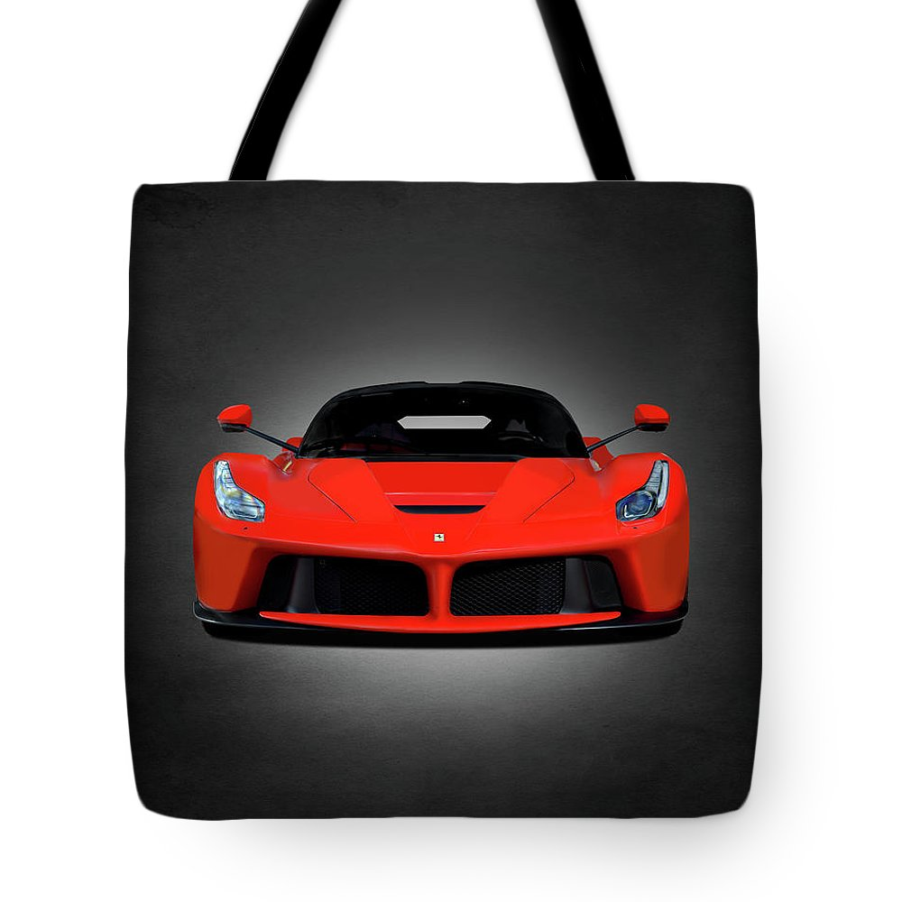 Ferrari Tote Bag featuring the photograph The Laferrari by Mark Rogan