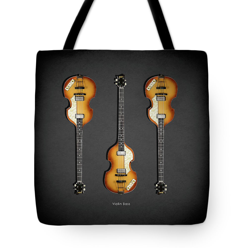 Hofner Violin Bass Tote Bag featuring the photograph Hofner Violin Bass 62 by Mark Rogan