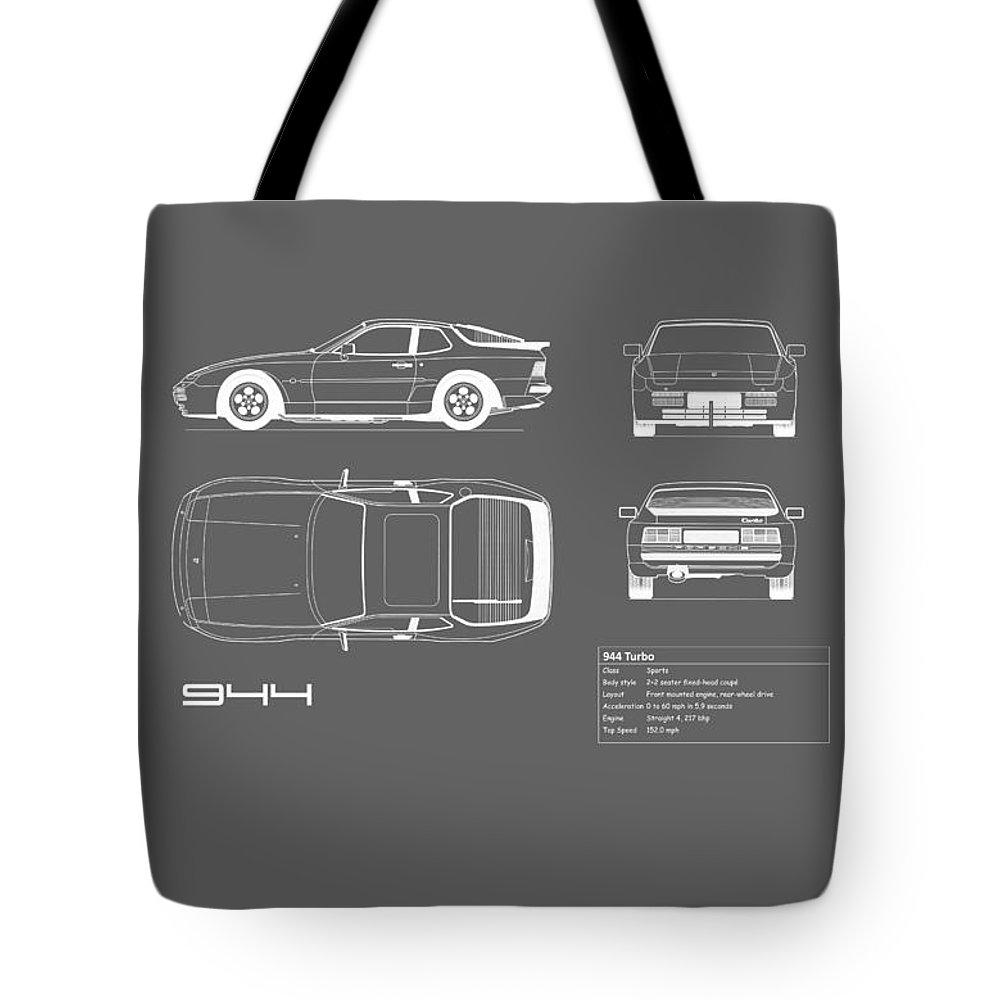 Porsche 944 blueprint tote bag for sale by mark rogan porsche tote bag featuring the photograph porsche 944 blueprint by mark rogan malvernweather Choice Image