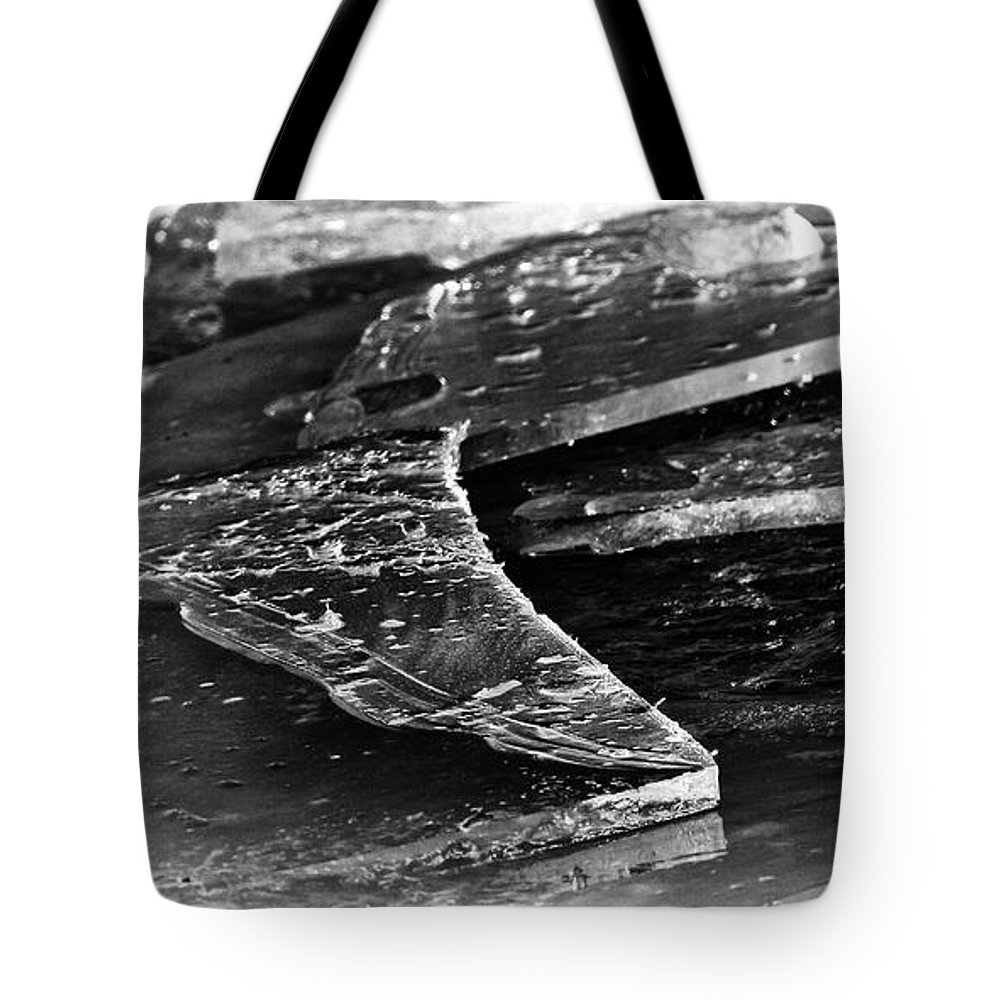 2015 January Tote Bag featuring the photograph Broken Sheets Of Ice by Bill Kesler