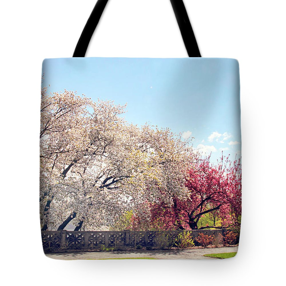 Untermyer Garden Tote Bag featuring the photograph Untermyer Park Views by Jessica Jenney