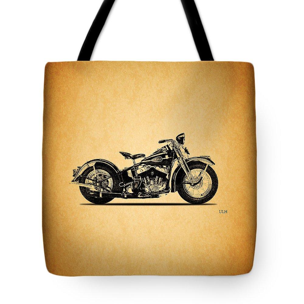 Harley Davidson Ulh Tote Bag featuring the photograph Harley Davidson ULH 1941 by Mark Rogan